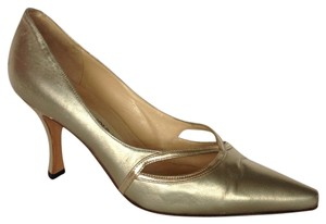 Manolo Blahnik Metallic Pumps