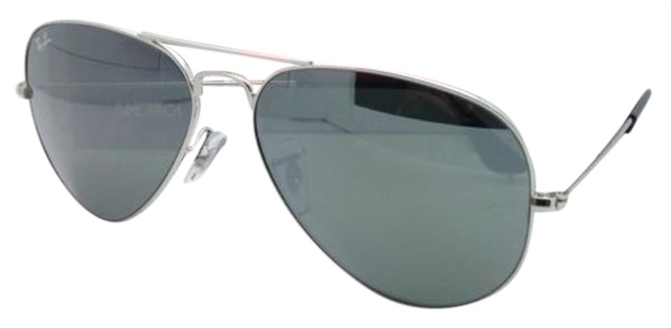 cf6411bd972 Ray-Ban Ray-Ban Aviator Sunglasses RB 3025 W3277 Silver Frames Mirrored  Lenses Image ...