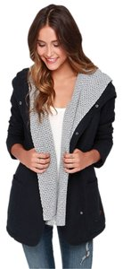 Roxy Wool Hood Trench Military Jacket