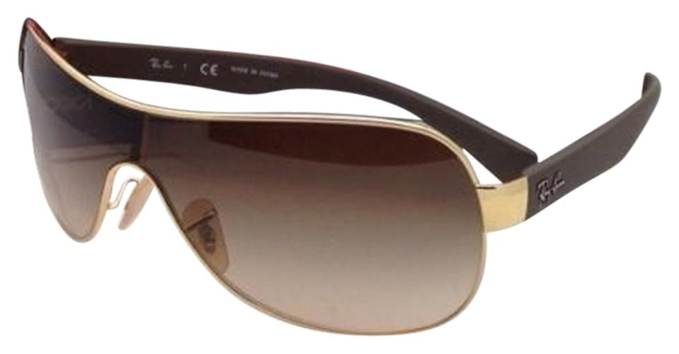 199319b13d Ray-Ban Rb 3471 001 13 Gold   Brown Shield Frame Gradient Lens New ...