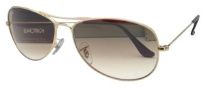 Ray-Ban New Ray-Ban Sunglasses RB 3362 COCKPIT 001/51 59-14 Aviator Arista Gold Frame w/Brown Gradient Lenses