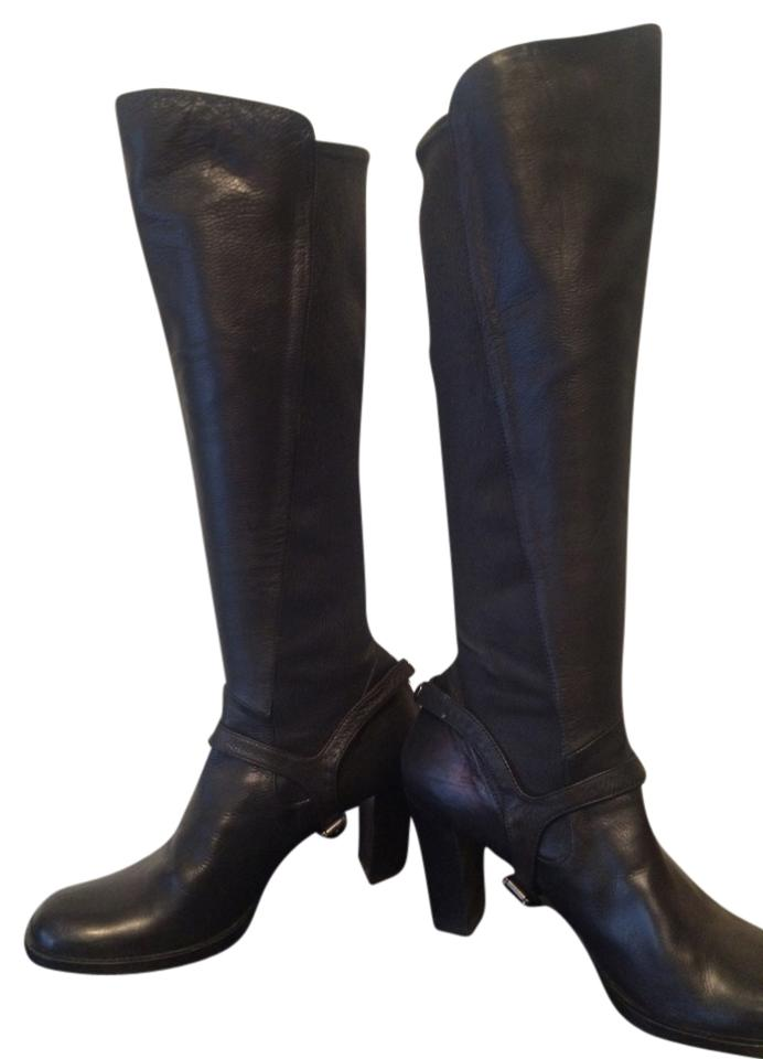 c284381324d2fa Vero Cuoio Black Leather Boots Booties Size US 9.5 Regular (M
