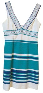 Trina Turk short dress Blue, Turquoise, White Womens Striped on Tradesy