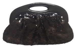 Express Sequin Fashion Black Clutch