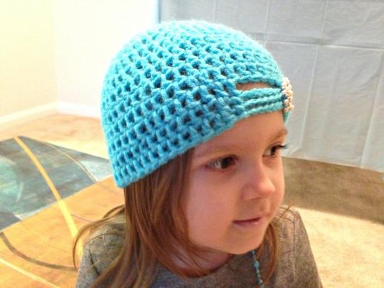 Other Blue Crochet Hat - Crochet Beanie - Kids Crochet Hat - Girls Hat - Toddler Hat