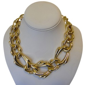 Other 19 Inch Goldtone Texture Statement Necklace