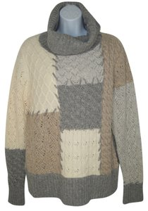 Sundance Funnel Patchwork Wool Sweater