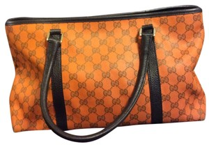 Gucci Limited Edition Monogram Tote in orange and brown