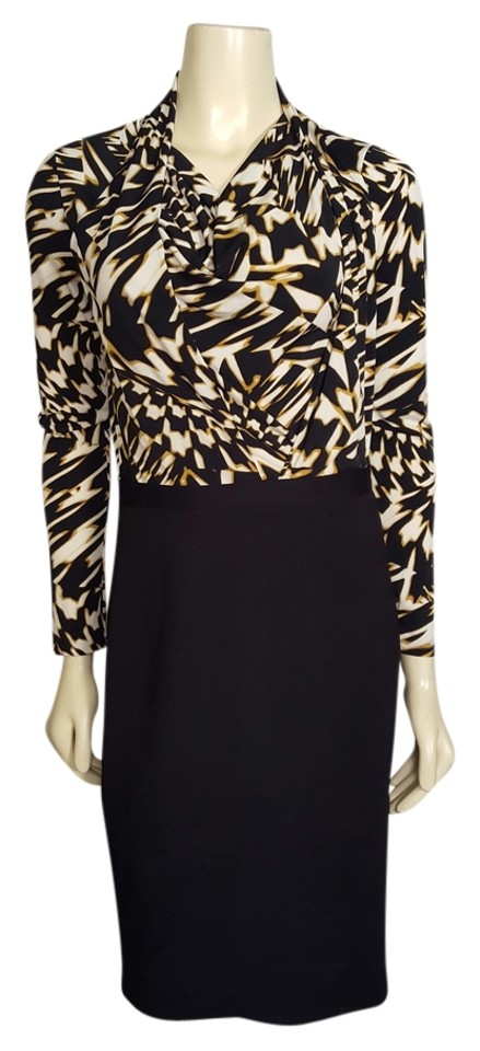 Taylor Black White And Gold Professional Long Sleeved Simple Mid