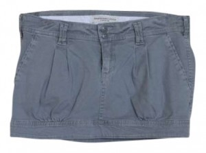 Abercrombie & Fitch Mini Skirt grey