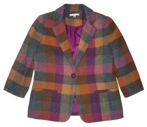 CAbi Plaid Wool Wool Jacket