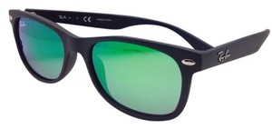 Ray-Ban Kids Junior Collection Ray-Ban Sunglasses RJ 9052-S 100S/3R 47-15 Black Frame w/ Green Mirror Lenses