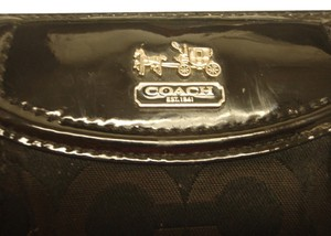 Coach Coach black monogram wallet