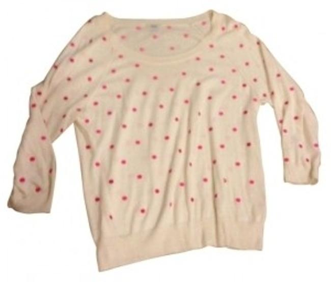 Preload https://item4.tradesy.com/images/madewell-cream-and-pink-boatneck-sweaterpullover-size-8-m-13813-0-0.jpg?width=400&height=650