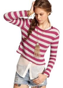 Free People Beach Striped Cropped Sweater