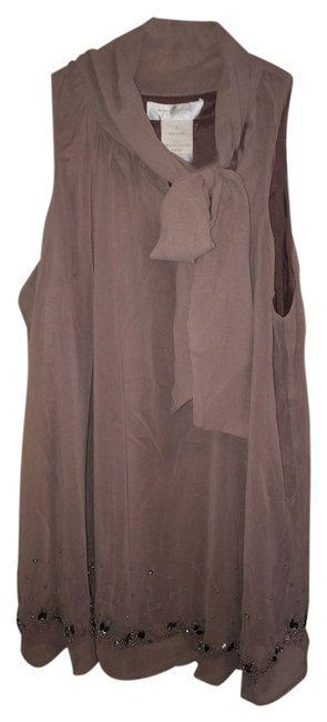 MM Couture Day To Night Versitility Mauve Beading Mm Top Grey Mauve