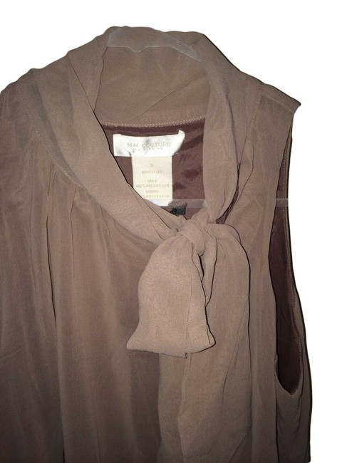MM Couture Day To Night Versitility Beading Top Grey Mauve