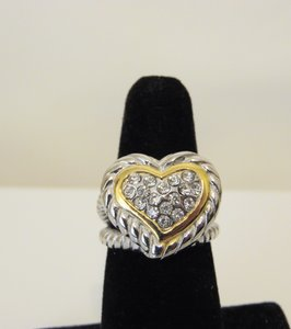 Other Emma Skye Pave Crystal Heart Ring
