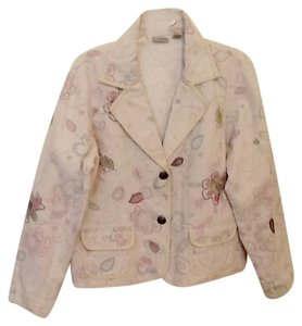 Chico's Cream w/Muted Floral Blazer
