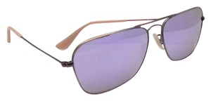 Ray-Ban New RAY-BAN Sunglasses CARAVAN RB 3136 167/4K 58-15 Bronze Aviator Frame w/Lilac Mirror