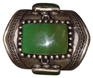 Tibet Jade and silver cuff. Huge 3