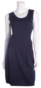 St. John Navy Knit Tank & Skirt