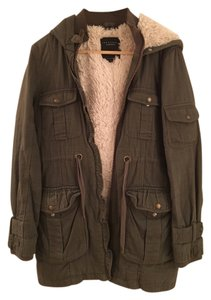 Sanctuary Clothing Vintage Fall Shearling Nyc Olive Olive Green Jacket