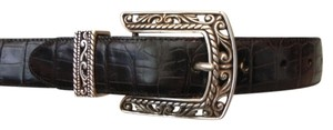 Brighton Embossed Croc Leather Belt