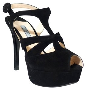 Prada 1xp514 Suede Black Pumps