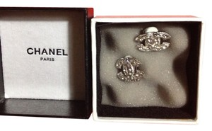 Chanel Chanel Big Stamped CC Clip Earring
