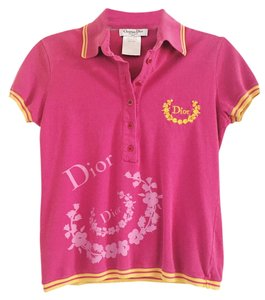 Dior Polo Golf Collection T Shirt Pink Mauve