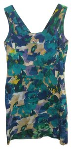 Calvin Klein short dress Blue / Green Floral Tiered Cotton on Tradesy