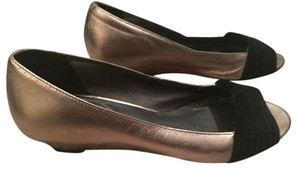 Cole Haan Metallic & Black Flats