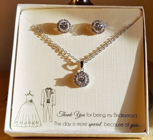 Gorgeous Bridesmaid Cz Gift Set