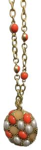 Lia Sophia Lia Sophia orange and gold necklace