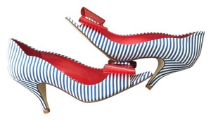 Gianni Bini Red, white, and blue Pumps