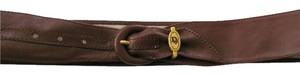 Dior Christian Dior Brown Leather Women Belt - Small