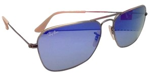 Ray-Ban New RAY-BAN Sunglasses CARAVAN RB 3136 167/68 58-15 Bronze Aviator Frame w/ Blue Mirror