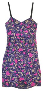 Yumi Kim short dress Blues, Fuschia Silk Sleeveless on Tradesy