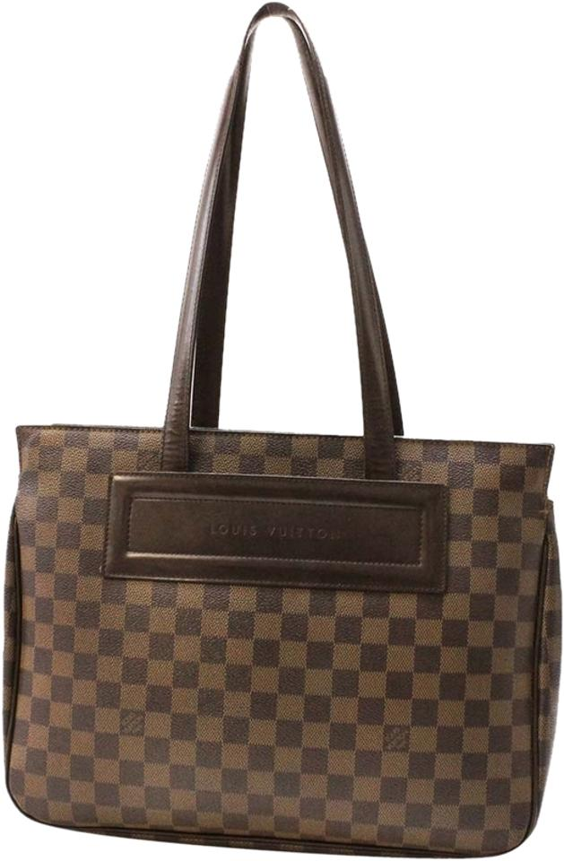 Louis Vuitton Parioli Pm Damier Ebene Shoulder Shopper Brown Canvas ... 253f93d8afb2d