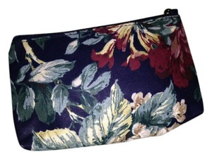 Other Victorian Print Vintage Zipper Closure Multi Colored Cosmetic Make Up Bag NEW