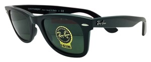 Ray-Ban New Ray-Ban Sunglasses RB 2140 901 50-22 WAYFARER Black Frame w/ Green Lenses