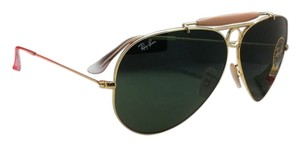 Ray-Ban New Ray-Ban Sunglasses RB 3138 SHOOTER 001 58-09 Arista Gold Frame w/ Crystal Green lenses