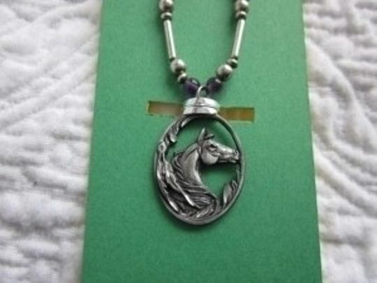 Unknown Siskiyou Horse Pendant Necklace Western