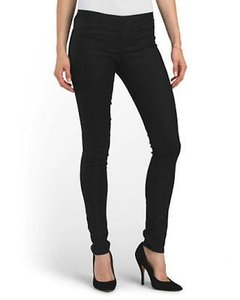 Helmut Lang Halo Denim Elastic Waist Pull On Stretch Leggings Pants