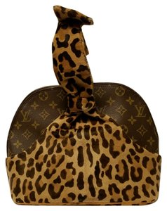 Louis Vuitton Rare Azzedine Alaia Satchel in Leopard and Brown Monogram