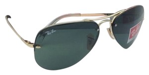 Ray-Ban New Authentic Ray-Ban Sunglasses RB 3449 001/71 59-14 Arista Gold Aviator Frame w/ Green lenses