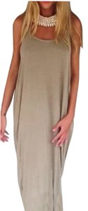 Taupe Maxi Dress by Other Free People Bohemian Anthropology Hippie Lace