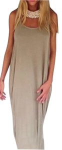 Taupe Maxi Dress by Free People Bohemian