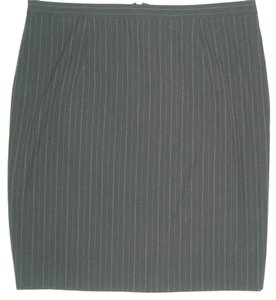 Michael Kors New Size 12 Pinstripes Skirt Black